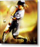 Women In Sports - Softball Metal Print by Mike Massengale