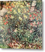 Women In The Flowers Metal Print by Claude Monet