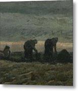 Women On The Peat Moor Nieuw Amsterdam, October 1883 Vincent Van Gogh 1853 - 1890 Metal Print