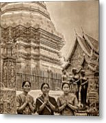 Women Praying Metal Print