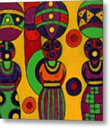 Women With Calabashes II Metal Print
