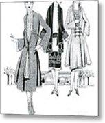 Womens Fashion, 1926 Metal Print