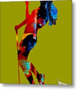 Womens Golf Collection Metal Print