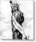 Womens Rights Cartoon, 1915 Metal Print