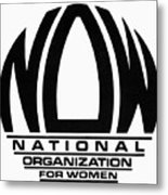 Womens Rights: Now Logo Metal Print