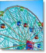Wonder Wheel Amusement Park 1 Metal Print