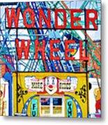 Wonder Wheel Amusement Park 10 Metal Print