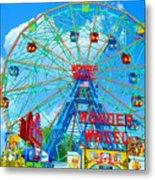 Wonder Wheel Amusement Park 7 Metal Print