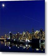 Wonderful Autumn Night In Port Vancouver Metal Print
