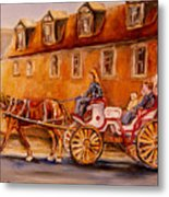 Wonderful Carriage Ride Metal Print