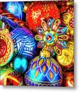 Wonderfully Beautiful Christmas Ornaments Metal Print