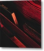 Wood And Books Metal Print