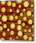 Wood And Gold Metal Print