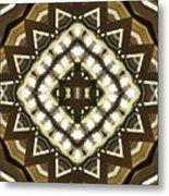 Wood And Light Shield Metal Print