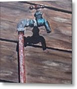 Wood And Metal Metal Print