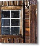 Wood And Window Metal Print