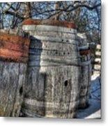 Wood  Barrel Oak Fermentation Whiskey Bourbon Cask Winter Snow Wood Faust Park Metal Print