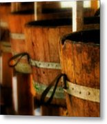 Wood Barrels Metal Print