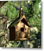 Wood Birdhouse Metal Print