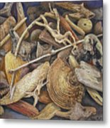 Wood Creatures Metal Print
