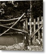 Wood Fence Metal Print