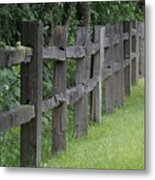 Wood Fence Metal Print