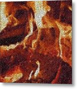 Wood Fire Mosaic Metal Print