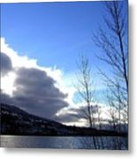Wood Lake Sunrise Metal Print
