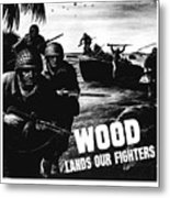 Wood Lands Our Fighters Metal Print