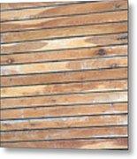 Wood Lines Metal Print