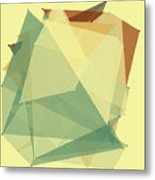 Wood Polygon Pattern Metal Print