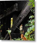 Wood Rail Underpass Metal Print