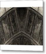 Wood Stone In Sepia Metal Print