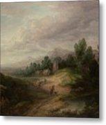 Wooded Upland Landscapewooded Upland Landscape By Thomas Gainsborough, Circa 1783 Metal Print