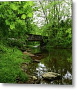 Wooded Valley Of The Patapsco River North Branch Maryland Metal Print