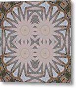Wooden Art Deco Starbursts Metal Print