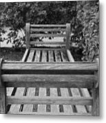 Wooden Bench Metal Print