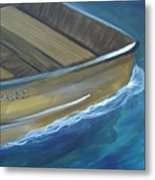 Wooden Boat -rear Metal Print
