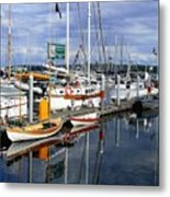 Wooden Boats On The Water Metal Print