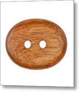 Wooden Button Metal Print