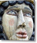 Wooden Carving In Santa Fe 8 Metal Print