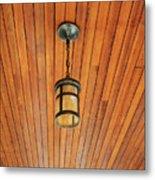 Wooden Ceiling Metal Print