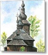 Wooden Church Metal Print