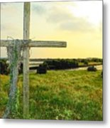 Wooden Cross 1 Metal Print