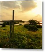 Wooden Cross 2 Metal Print by Sheri McLeroy