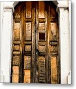 Wooden Door 1 Metal Print