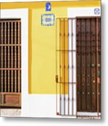 Wooden Doors In Old San Juan, Puerto Rico Metal Print