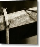 Wooden Fence Part 1 Metal Print