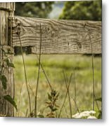 Wooden Fence Post. Metal Print