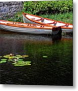 Wooden Rowboats Metal Print